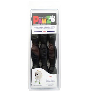 PAWZ Dog Boots, Tiny, Black
