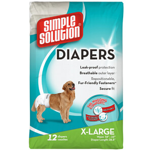 Simple Solution Disposable Diapers, X-Large