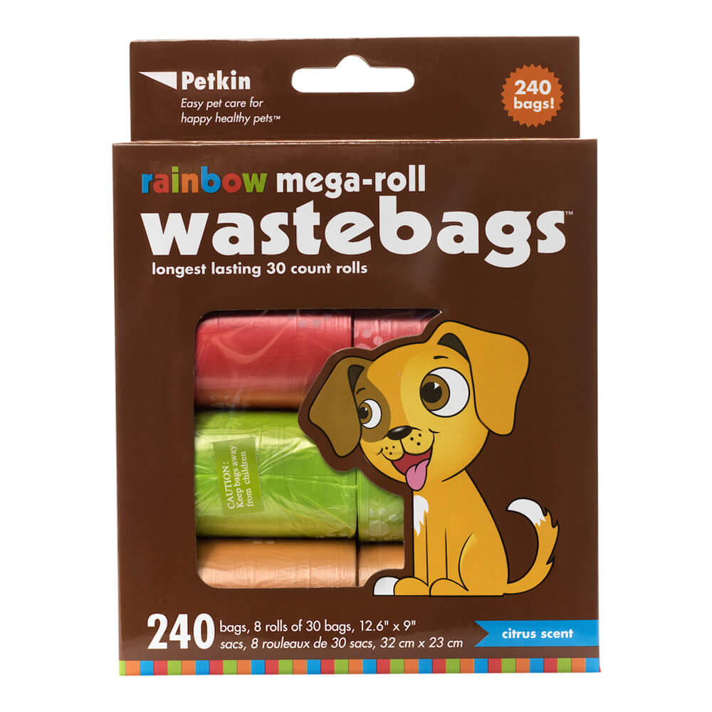Rainbow Mega-Roll Waste Bags, 240 Count