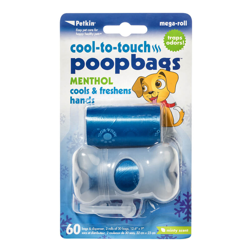 Cool-to-touch Poopbags, 60ct W/Dispenser