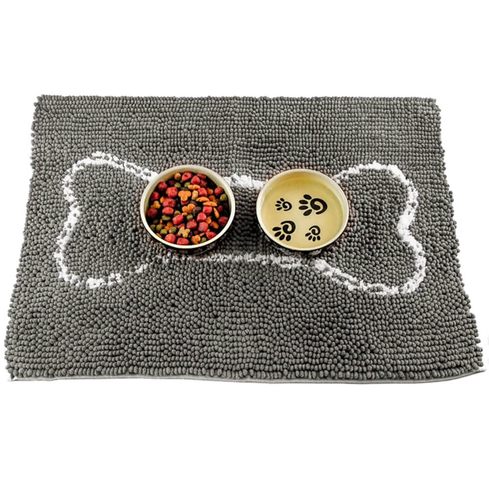Soggy Doggy Slopmat, Placemat For Dogs Grey/Light Grey Bone