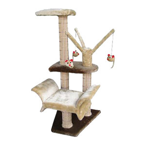Cat Life Lounger with Play Tree