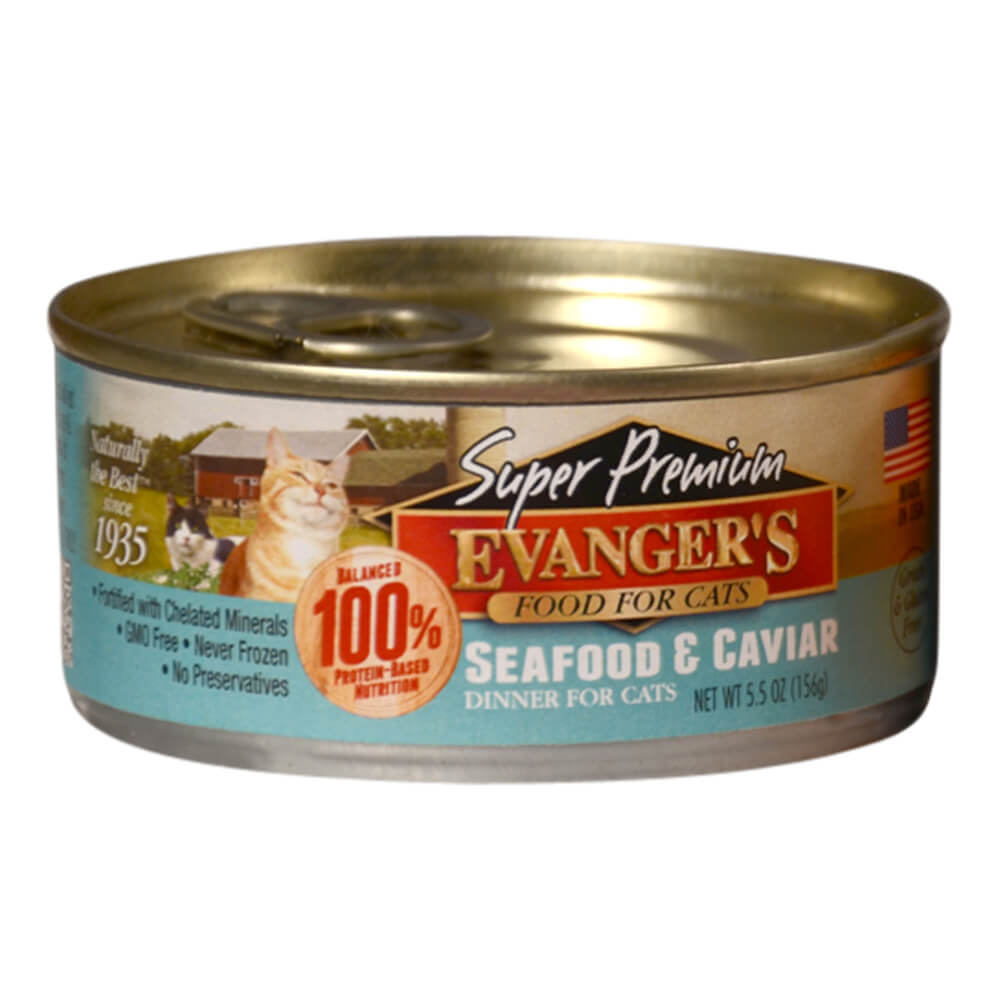 Super Premium Seafood & Caviar Dinner for Cats, 5.5 oz