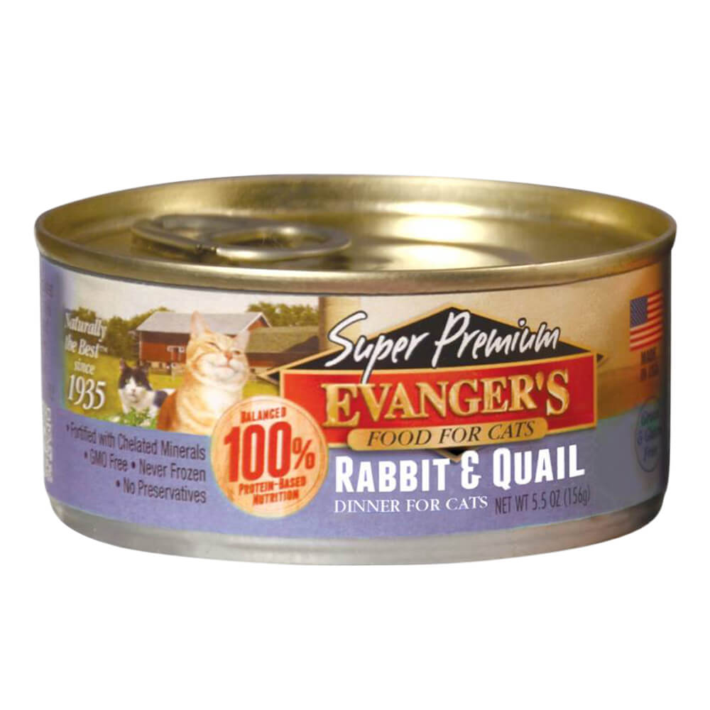 Super Premium Rabbit & Quail Dinner for Cats, 5.5 oz
