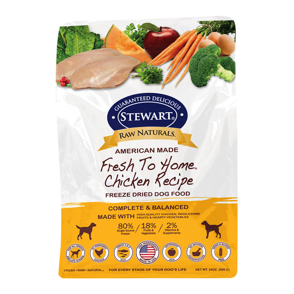 Raw Naturals Freeze Dried Food Bag 24oz - Chicken