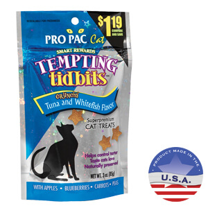 Tempting Tidbits for Cats, Whitefish & Tuna, 3.0 oz