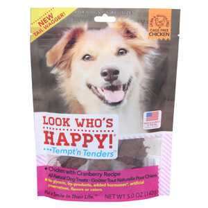 Look Who's Happy Tempt'n Tenders Treats, Chicken with Cranberry, 5 oz