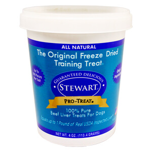 Stewart Pro-Treat Freeze Dried Beef Liver Treats for Dogs, 4 oz