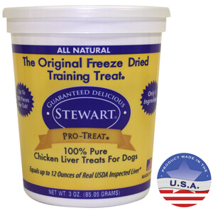 Stewart Pro-Treat Freeze Dried Chicken Liver Treats for Dogs, 3 oz