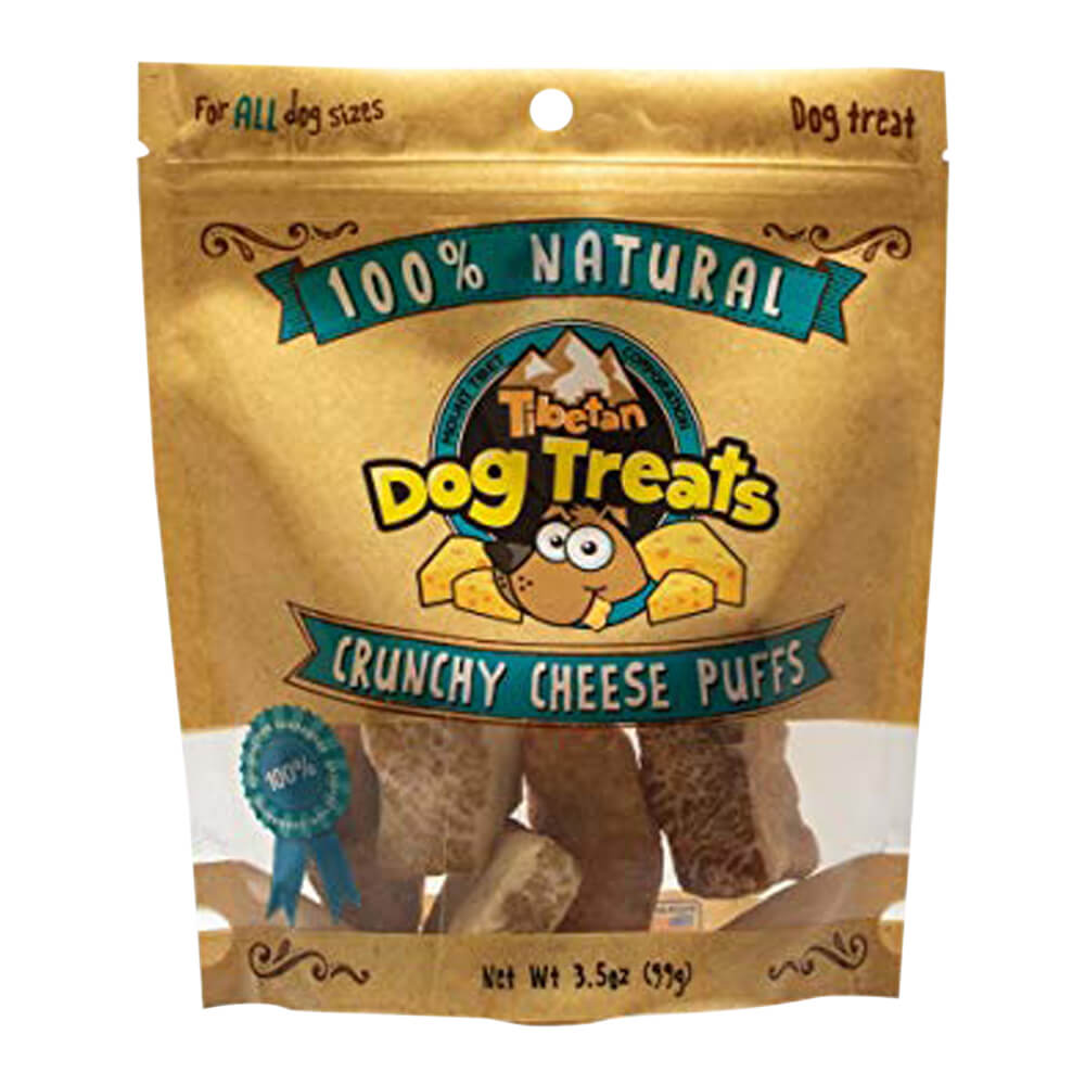 Tibetan Dog Treats Crunchy Cheese Puffs