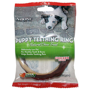 N-Bone Puppy Teething Ring Chicken