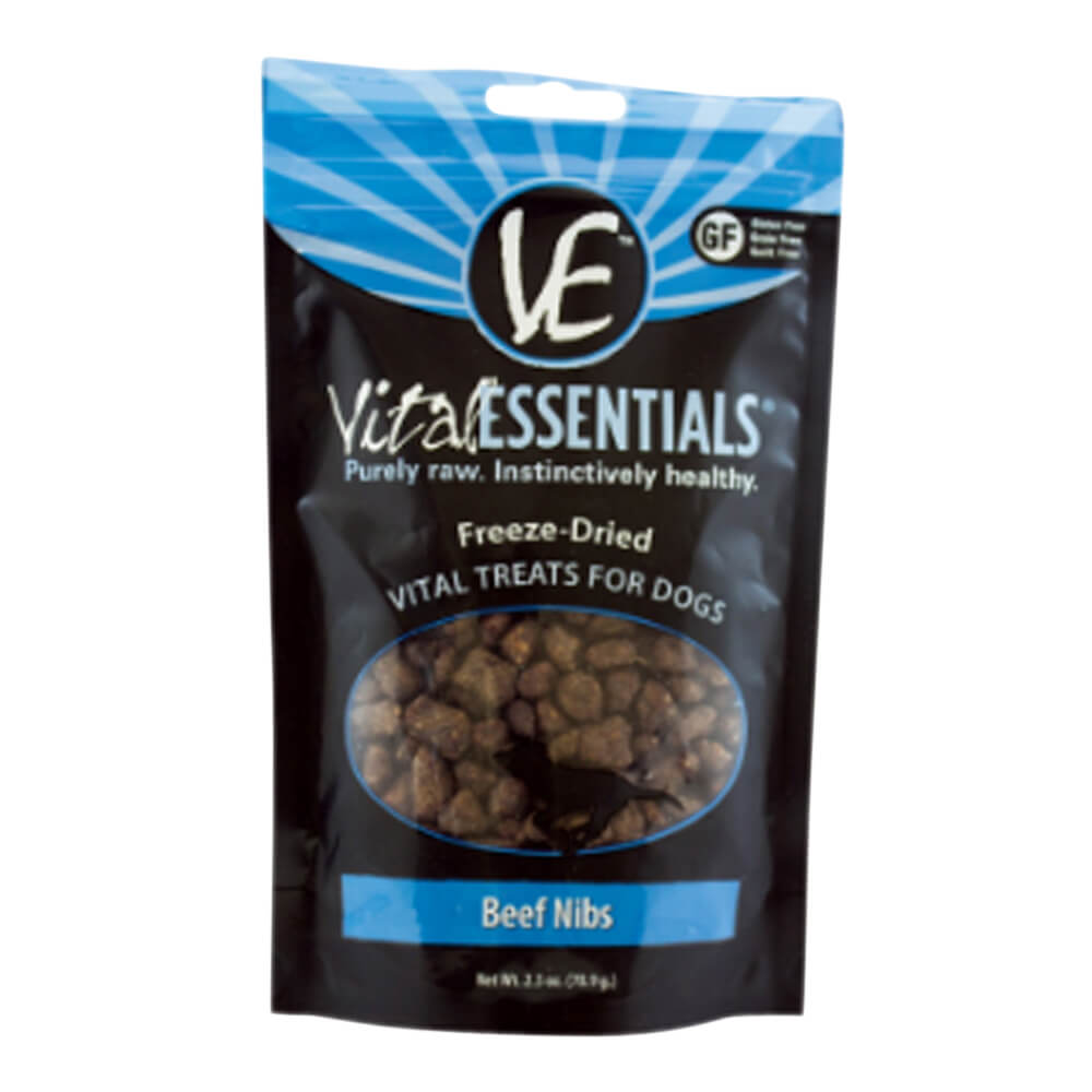 Freeze-Dried Vital Treats Beef Nibs, 2.5 oz