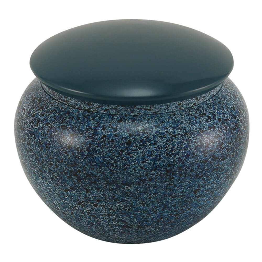 Alloy Pet Urn, Midnight Blue, Large