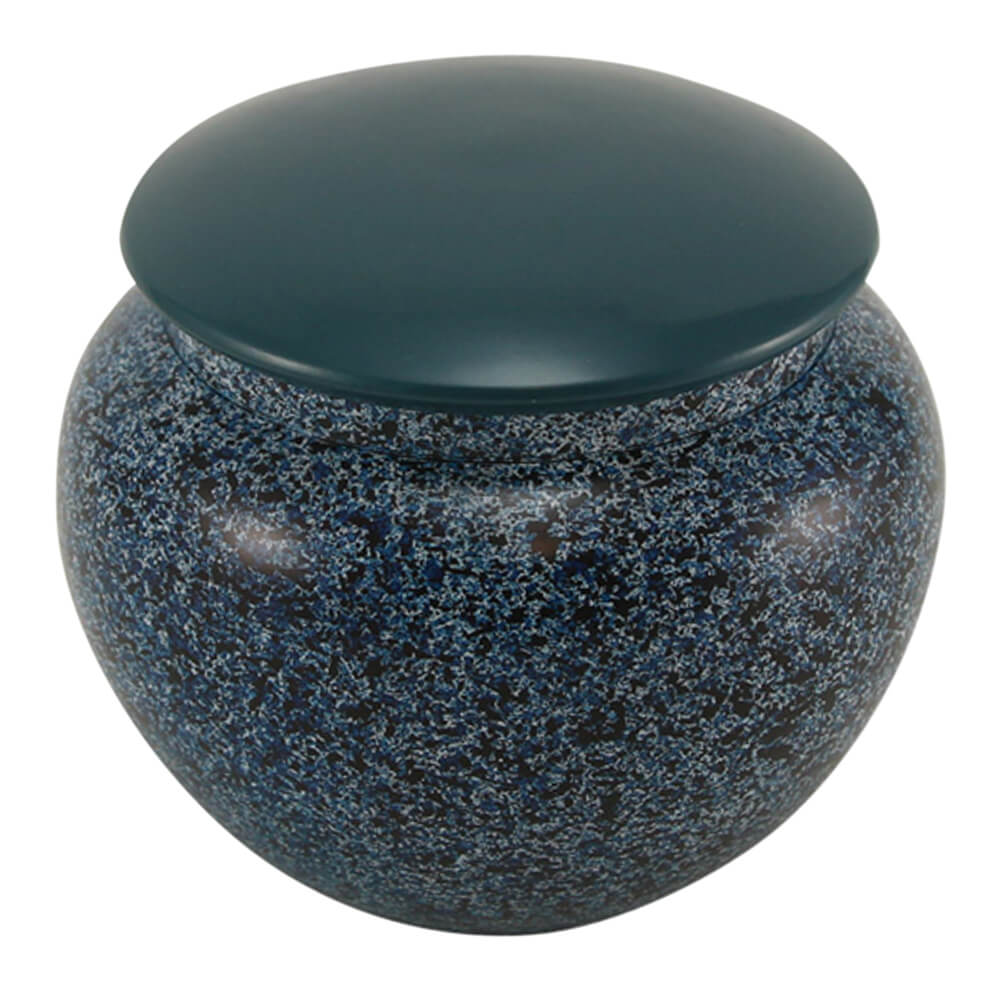 Alloy Pet Urn, Midnight Blue, Medium