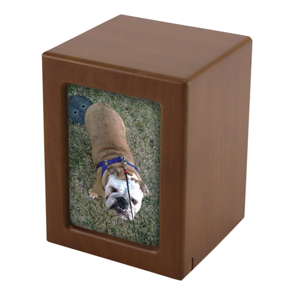 Photo Frame Pet Urn, Honeynut, Medium
