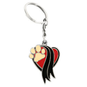 The Memorial Paw, Keychain