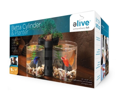Betta Cylinder And Planter Black