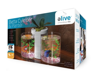 Betta Cylinder And Planter White