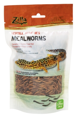 Rzilla Reptile Munchies Mealworms 3.75oz - 24/Cs