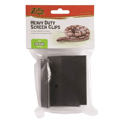 Reptile Screen Cover Heavy Duty Clips - 30G & Larger
