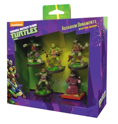 Mini Resin Ornament Teenage Mutant Ninja Turtles 5Pc Gift Pack