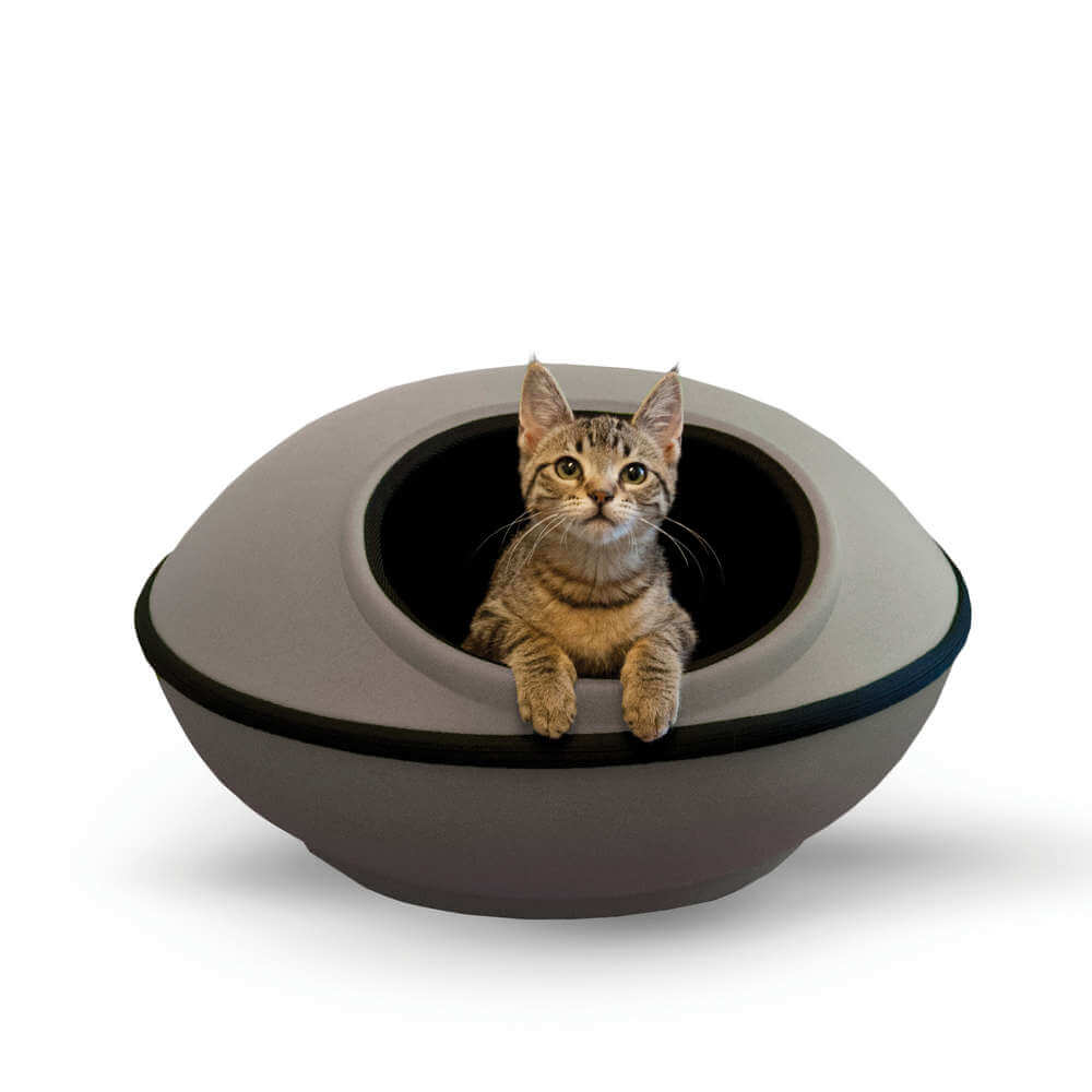 K&H Pet Products Mod Dream Pods Cat Bed Gray / Black 22