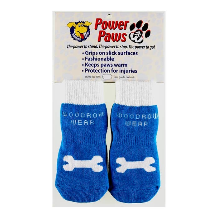 Woodrow Wear Power Paws Advanced Extra Extra Small Blue / White Bone 1.25