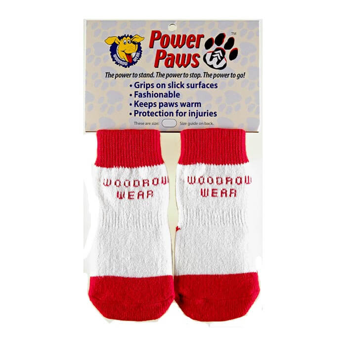 Woodrow Wear Power Paws Advanced Extra Extra Small Red / White Strip 1.25