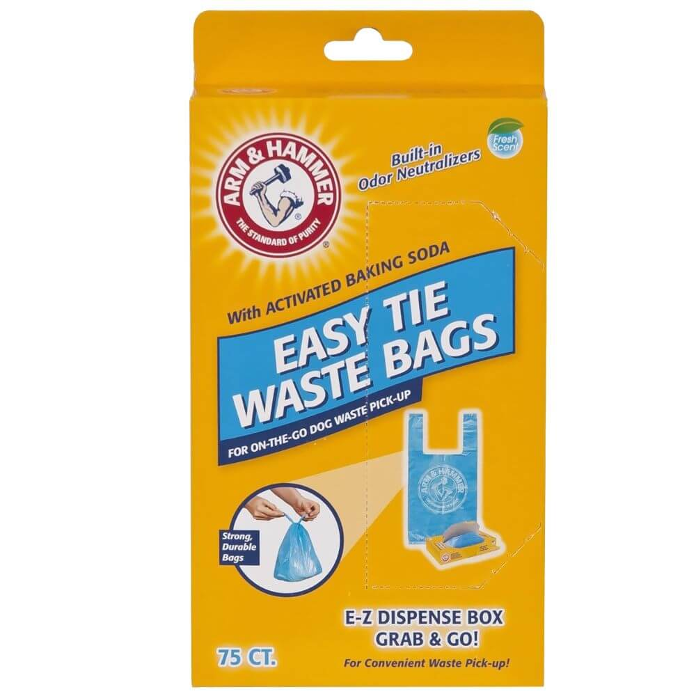 Petmate Arm and Hammer Easy-Tie Waste Bags 75 count Blue 1.5