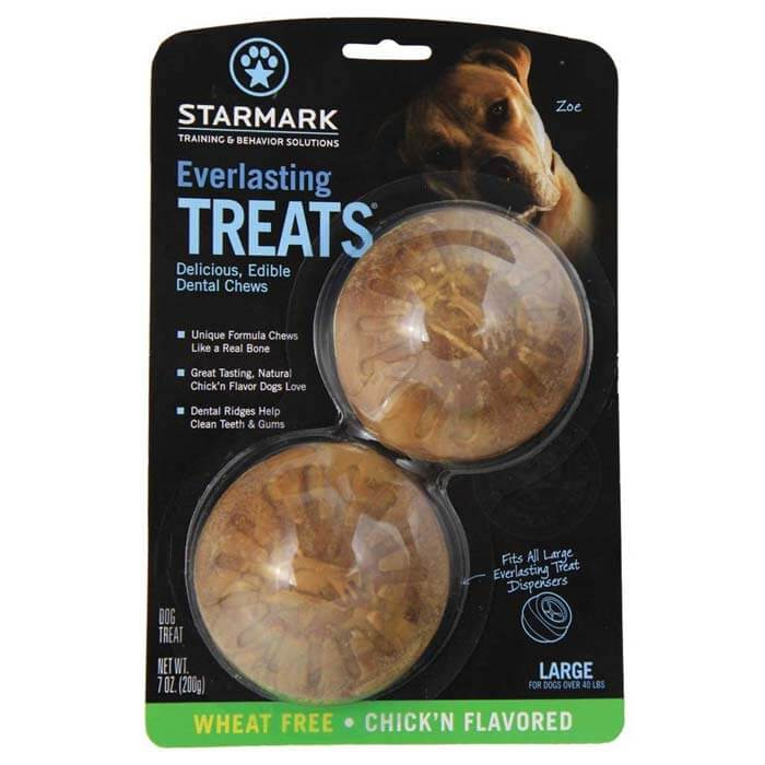 StarMark Everlasting Treat Veggie Chicken 2 pack Small Brown