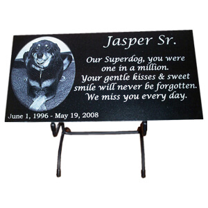 Black Granite Pet Memorials