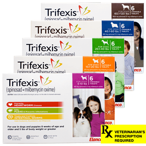 Trifexis Chewable Tablets for Dogs, Rx