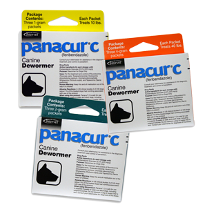 Panacur C Canine Dewormer, Each packet treats 20lbs