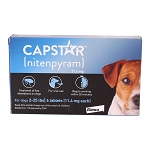 Capstar for Cats and Dogs Under 25 lbs, 6 count