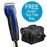 Andis Excel 5 Speed Detachable Clipper, Indigo Blue + FREE Tote Bag
