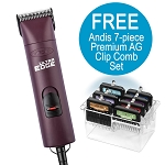 Andis UltraEdge AGC Super 2-Speed, Burgundy + FREE Nail Grinder