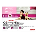 Comfortis Rx, 5-10 lb Dogs/4.1-6 lb Cats, Pink, 6 Count
