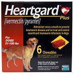 Heartgard Plus, Dogs 51-100 lbs, 6 Chewable Tablets, Rx