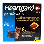 Heartgard Plus Rx, Up to 25 lbs, 6 Month (Blue)