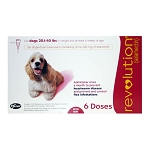 Revolution Rx for Dogs,ORM-D, 20.1-40 lbs, 6 Month (Red)