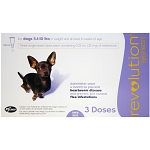 Revolution Rx for Dogs, ORM-D, 5.1-10 lbs, 3 Month (Purple)