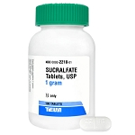 Sucralfate 1 gm, 100 Tablets, Rx