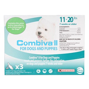 Combiva II for Dogs & Puppies, 11-20 lbs, 3 ct