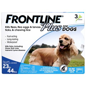 Frontline Plus Flea/Tick for Dogs 23-44 lbs, 3 Mo