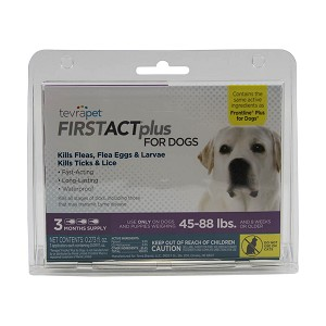 TevraPet FirstAct Plus for Dogs 45-88 lbs, 3 doses