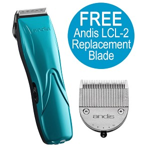 Pulse Li 5 Cord/Cordless Turquoise Adjustable Blade Clipper & FREE Extra Replacement Blade