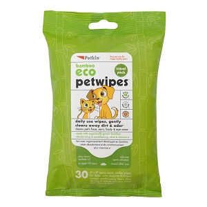 Bamboo Eco Petwipes Travel Pack, 30 Count