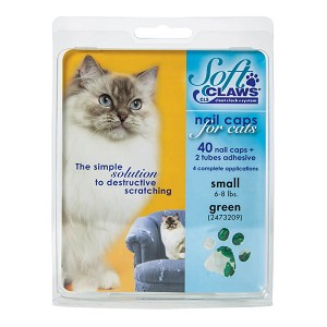 Soft Claws, Nail Caps for Cats, Small, Green, 40 ct