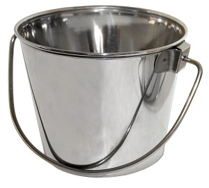 Regular Stainless Steel Pail, 13 qt