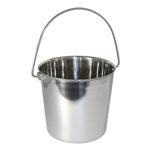 Pail Stainless Steel w/ Rivets, Round, 1 qt